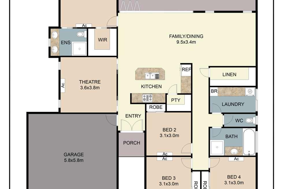 Floorplan of Homely house listing, 14 Hockey Avenue, Smithfield QLD 4878