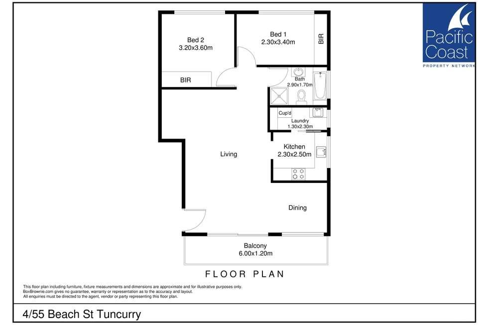 Floorplan of Homely unit listing, 4/55 Beach Street, Tuncurry NSW 2428