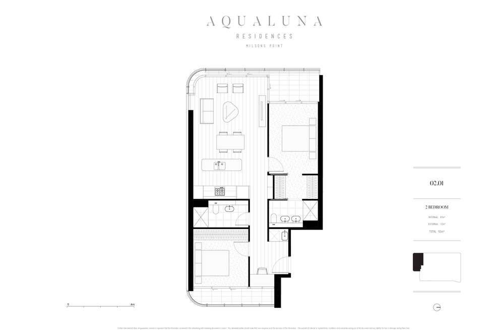 Floorplan of Homely apartment listing, 201/30 Alfred Street, Milsons Point NSW 2061