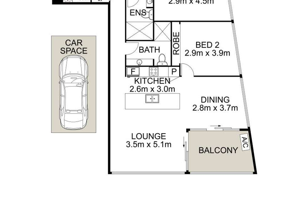 Floorplan of Homely apartment listing, 45/2-8 James Street, Carlingford NSW 2118