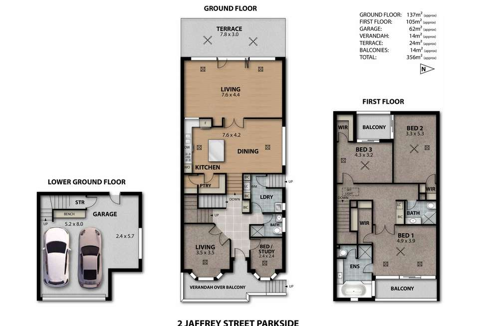 Floorplan of Homely house listing, 2 Jaffrey Street, Parkside SA 5063