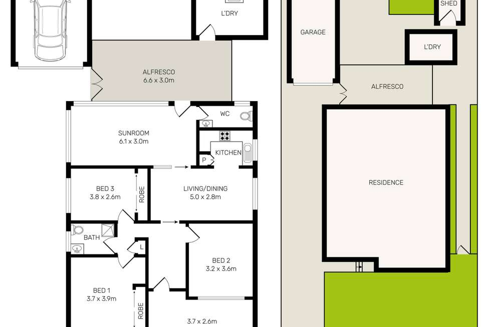 Floorplan of Homely house listing, 156 Juno Parade, Greenacre NSW 2190