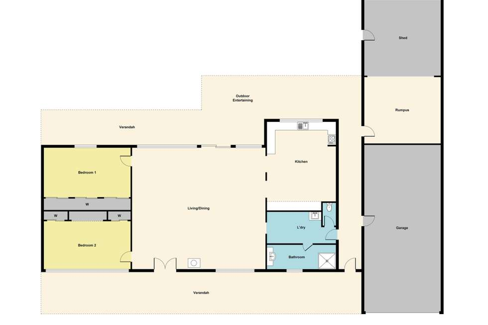 Floorplan of Homely house listing, 26 Bucknall Street, Carisbrook VIC 3464