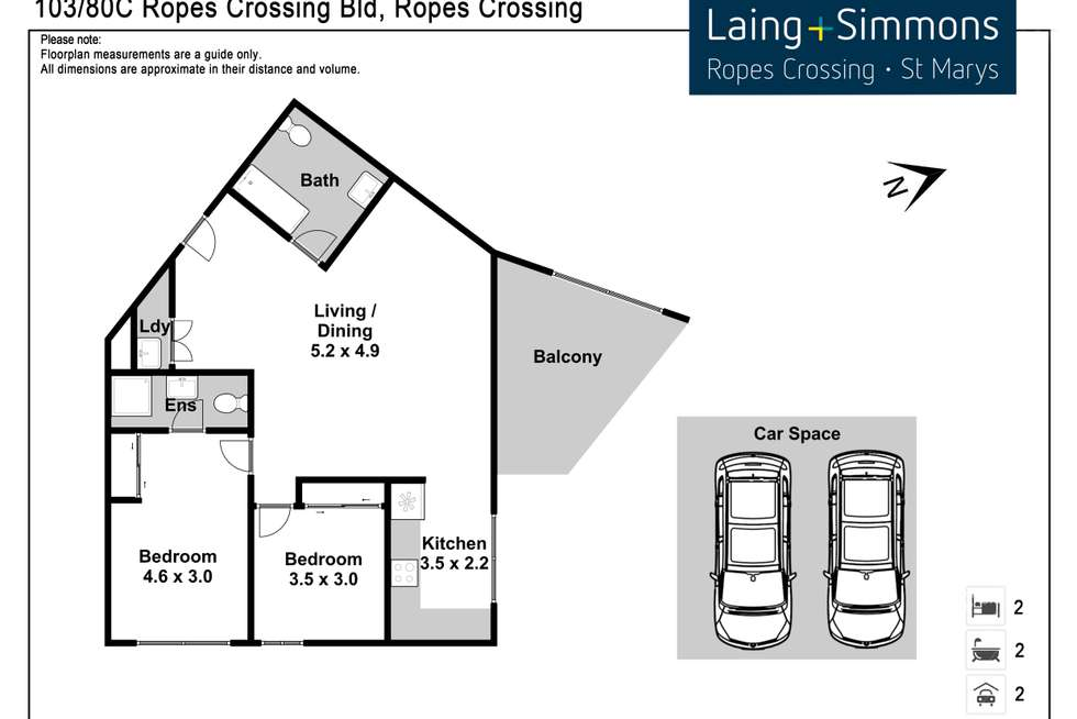 Floorplan of Homely unit listing, 103/80C Ropes Crossing Boulevard, Ropes Crossing NSW 2760