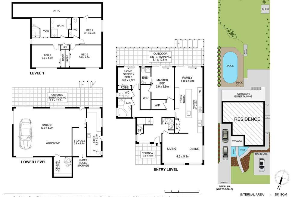 Floorplan of Homely house listing, 25 Currawong Avenue, Normanhurst NSW 2076