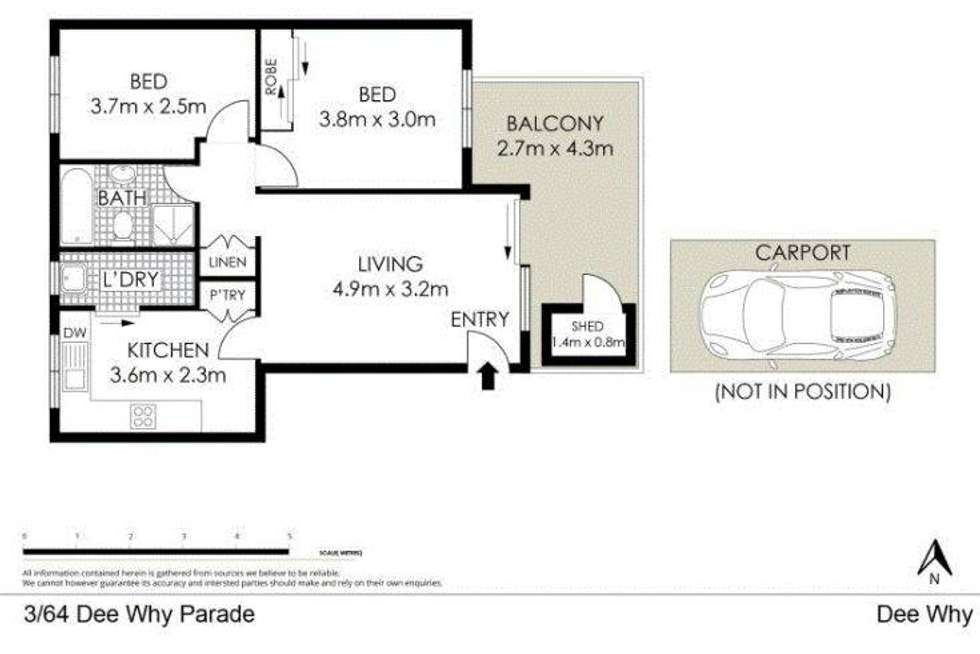 Floorplan of Homely apartment listing, 3/64 Dee Why Parade, Dee Why NSW 2099
