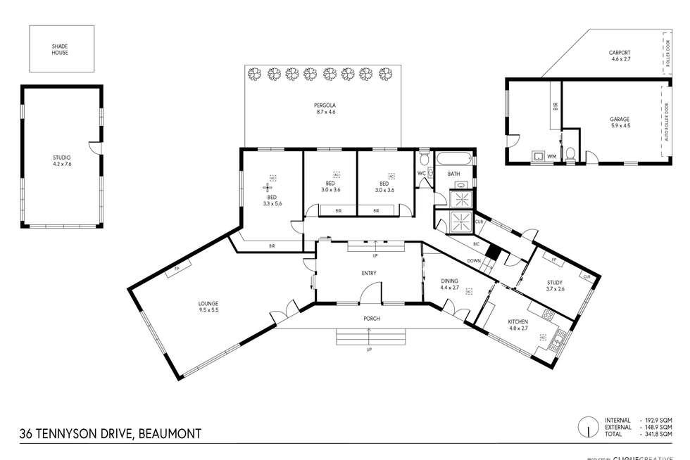 Floorplan of Homely house listing, 36 Tennyson Drive, Beaumont SA 5066