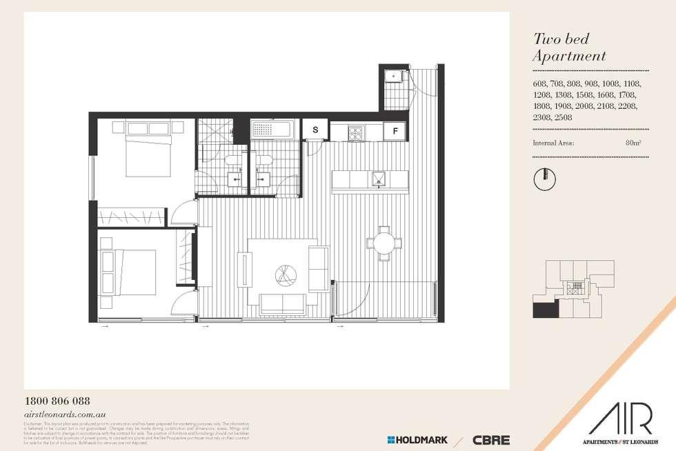 Floorplan of Homely apartment listing, 808/10 Atchison Street, St Leonards NSW 2065