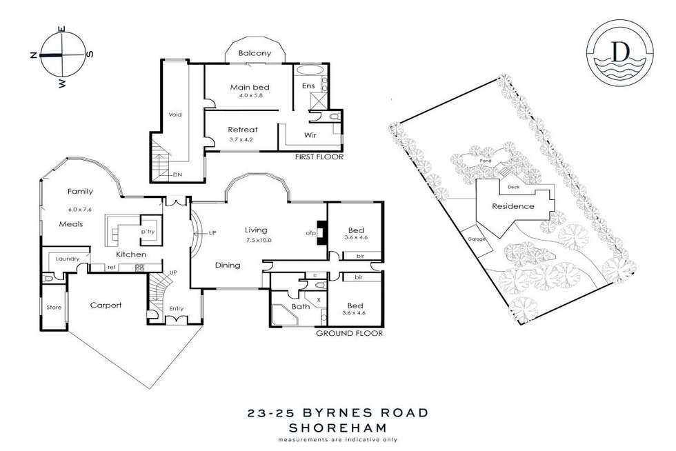 Floorplan of Homely house listing, 23-25 Byrnes Road, Shoreham VIC 3916