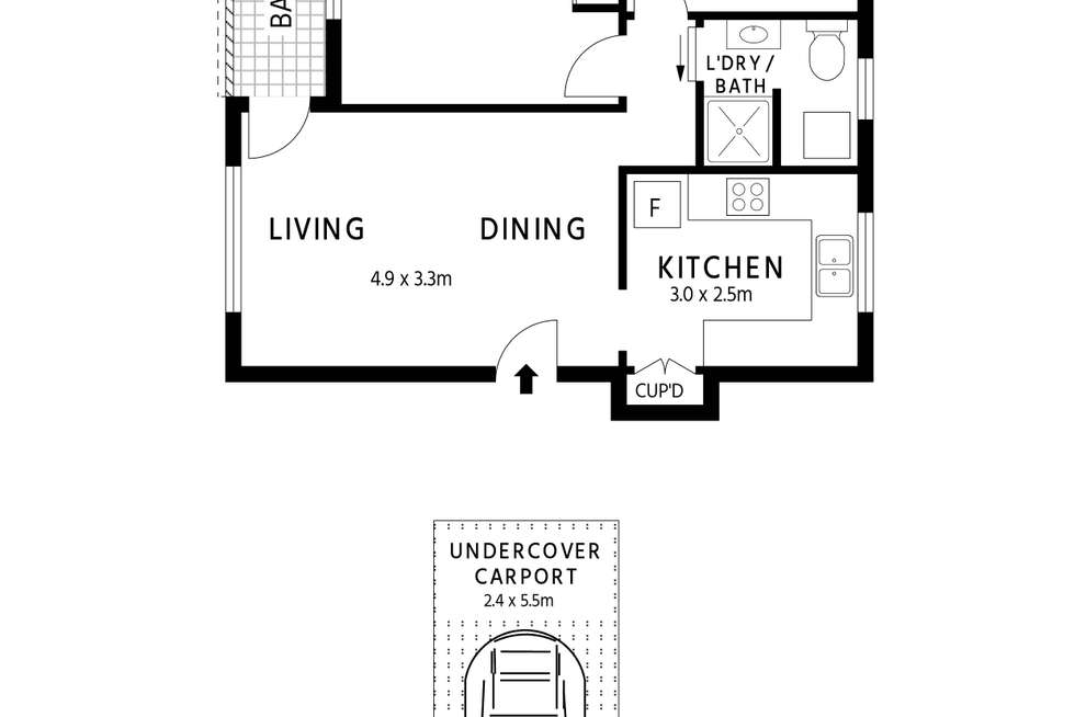 Floorplan of Homely unit listing, 4/44a Grosvenor Crescent, Summer Hill NSW 2130