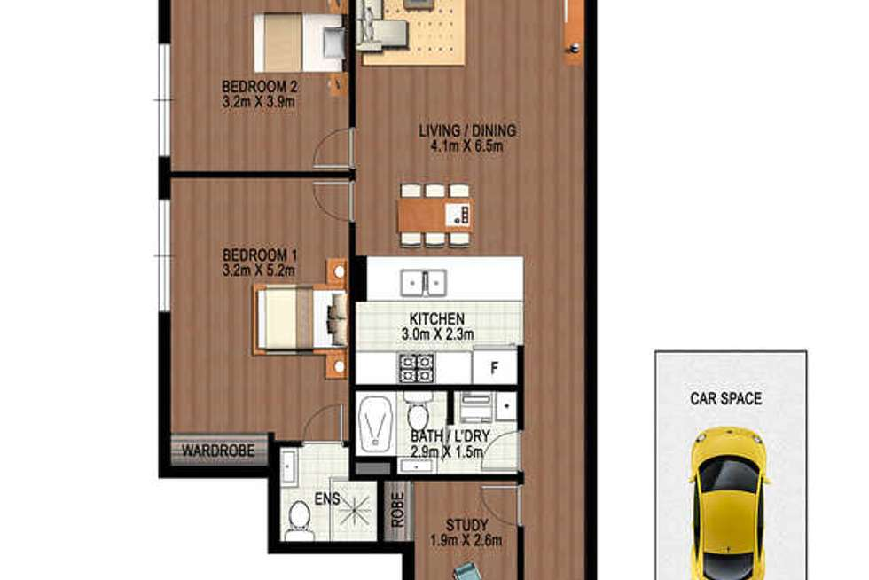 Floorplan of Homely apartment listing, E410/81-86 Courallie Avenue, Homebush West NSW 2140