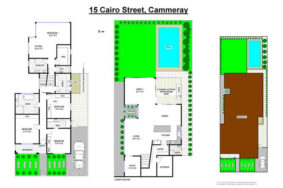 Floorplan of Homely house listing, 15 Cairo Street, Cammeray NSW 2062