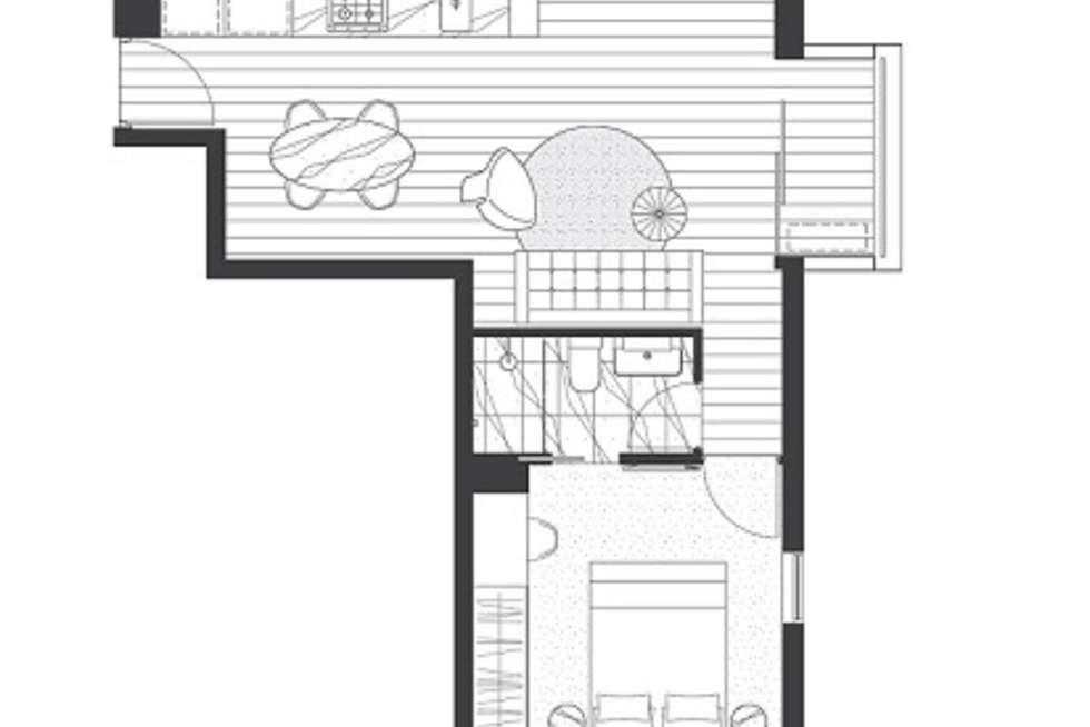 Floorplan of Homely apartment listing, 309/518 Swanston Street, Carlton VIC 3053