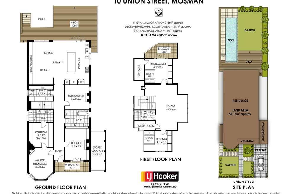 Floorplan of Homely house listing, 10 Union Street, Mosman NSW 2088