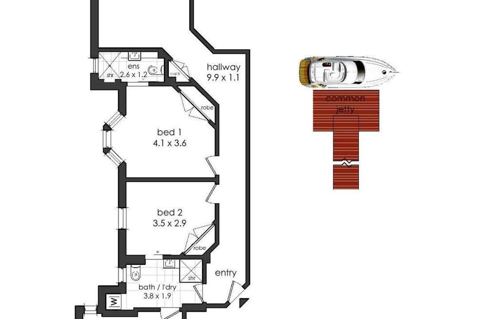 Floorplan of Homely apartment listing, 5/4 Billyard Avenue, Elizabeth Bay NSW 2011