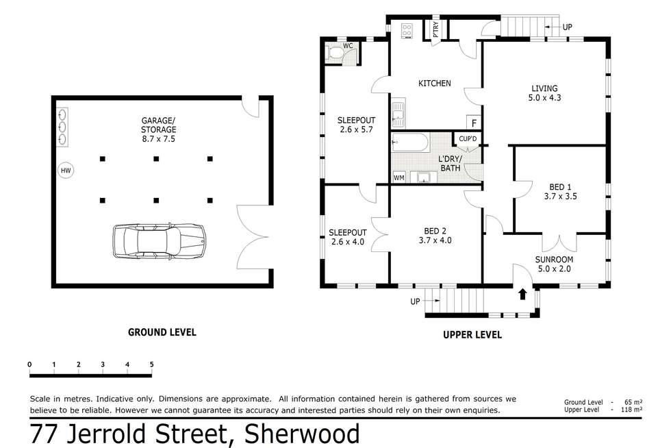 Floorplan of Homely house listing, 77 Jerrold Street, Sherwood QLD 4075