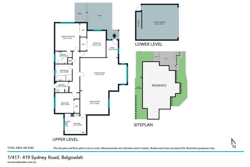 Floorplan of Homely townhouse listing, 1/417-419 Sydney Road, Balgowlah NSW 2093