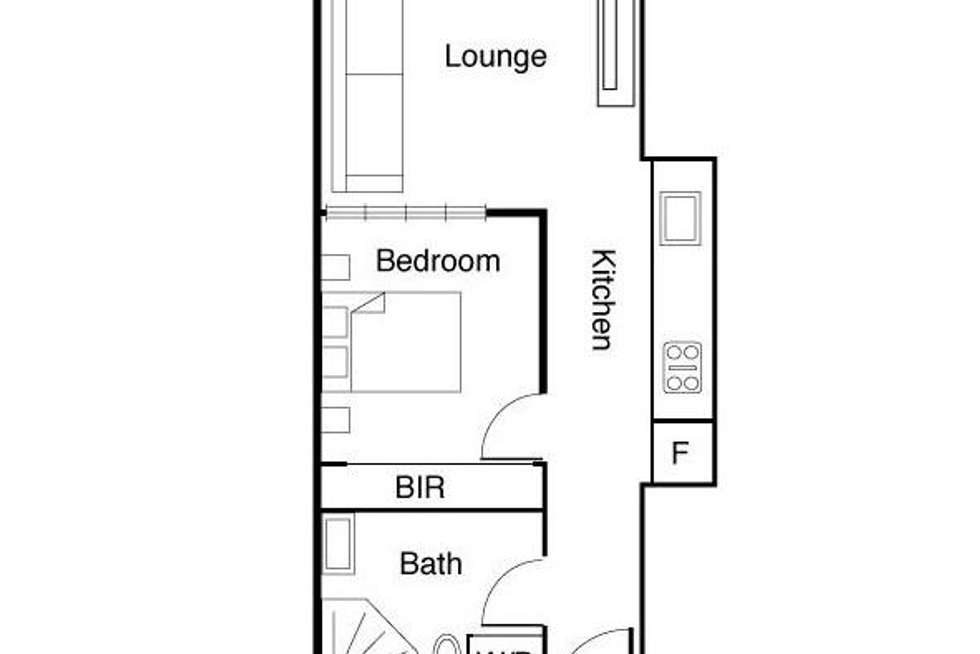 Floorplan of Homely apartment listing, 1008/594 St Kilda Road, Melbourne VIC 3004