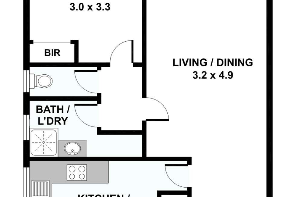 Floorplan of Homely apartment listing, 9/30 Park Drive, Parkville VIC 3052