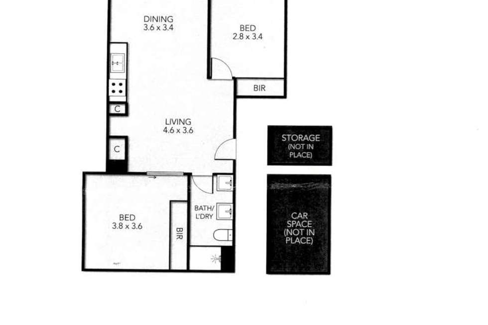 Floorplan of Homely apartment listing, 101/25 Oxford Street, North Melbourne VIC 3051