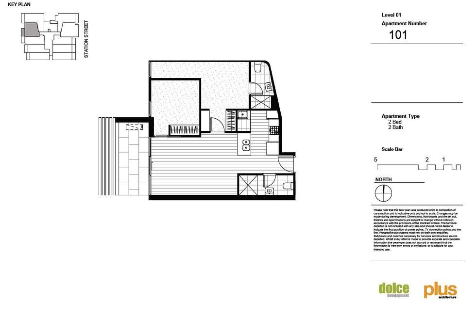 Floorplan of Homely apartment listing, 101/62-64 Station Street, Fairfield VIC 3078