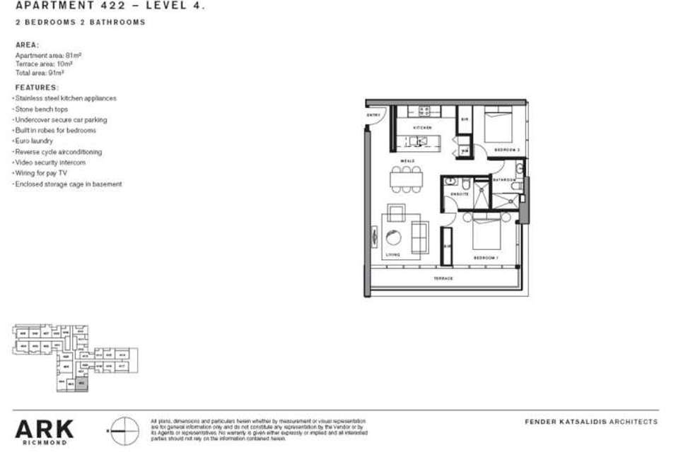 Floorplan of Homely apartment listing, 422/253 Bridge Road, Richmond VIC 3121
