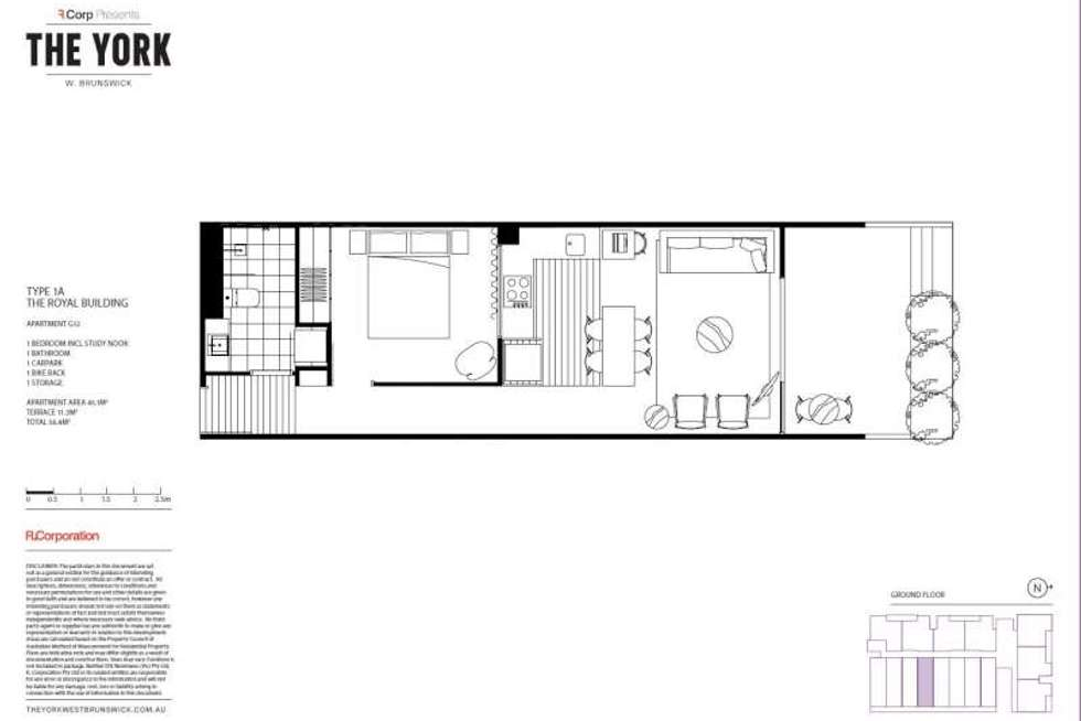 Floorplan of Homely apartment listing, G12/3 Duggan Street, Brunswick West VIC 3055