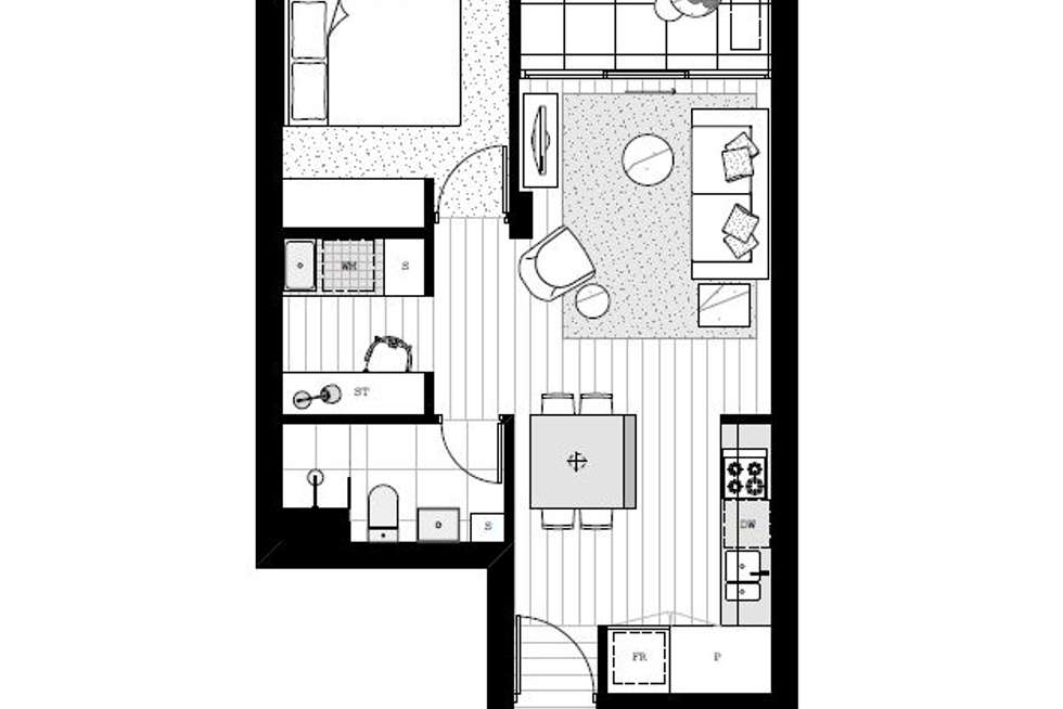 Floorplan of Homely apartment listing, 503/18 Coppin Street, Richmond VIC 3121