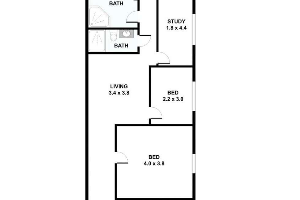 Floorplan of Homely house listing, 13 Shelley Street, Richmond VIC 3121
