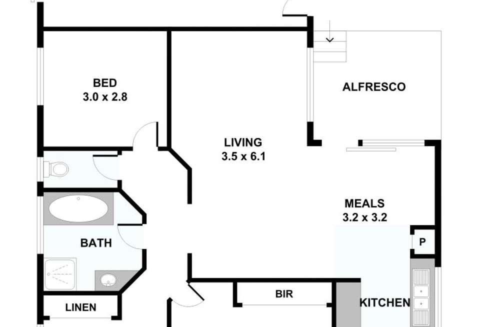 Floorplan of Homely unit listing, 1/497 Waverley Rd, Mount Waverley VIC 3149