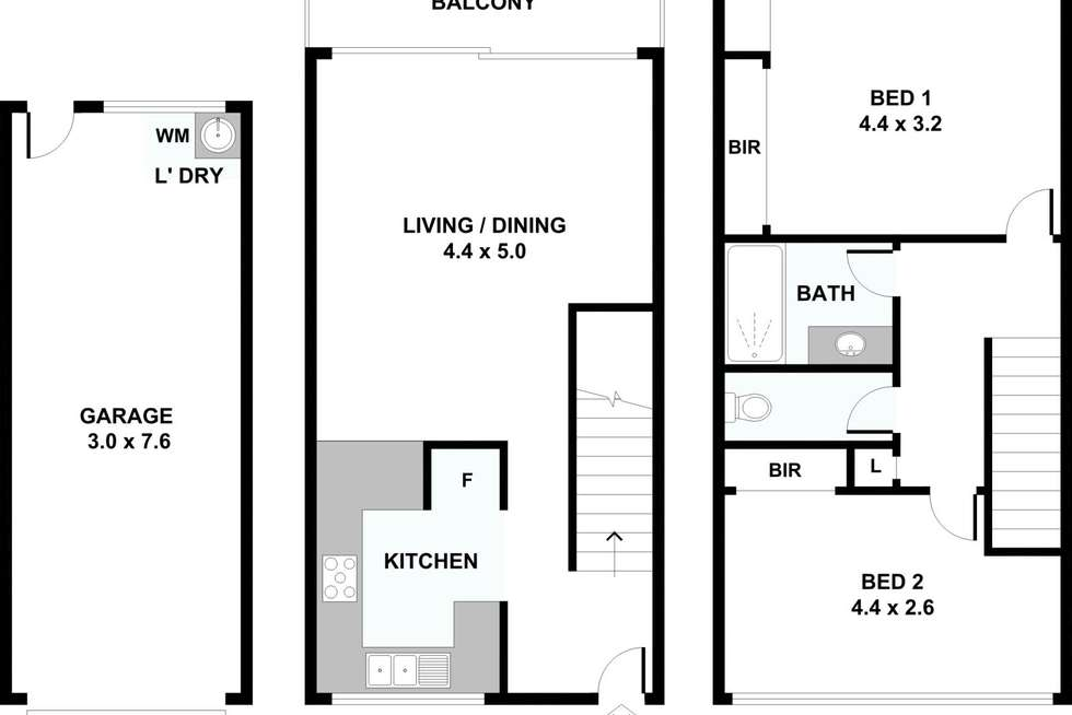 Floorplan of Homely unit listing, 6/16 Gailey Road, St Lucia QLD 4067