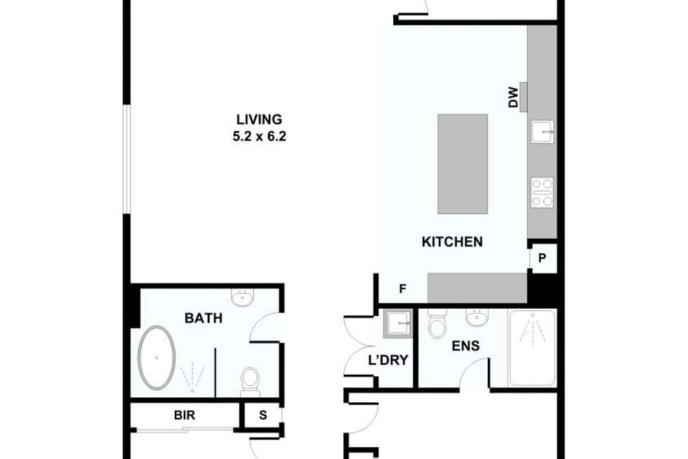 Floorplan of Homely apartment listing, 501/28 Curzon Street, West Melbourne VIC 3003