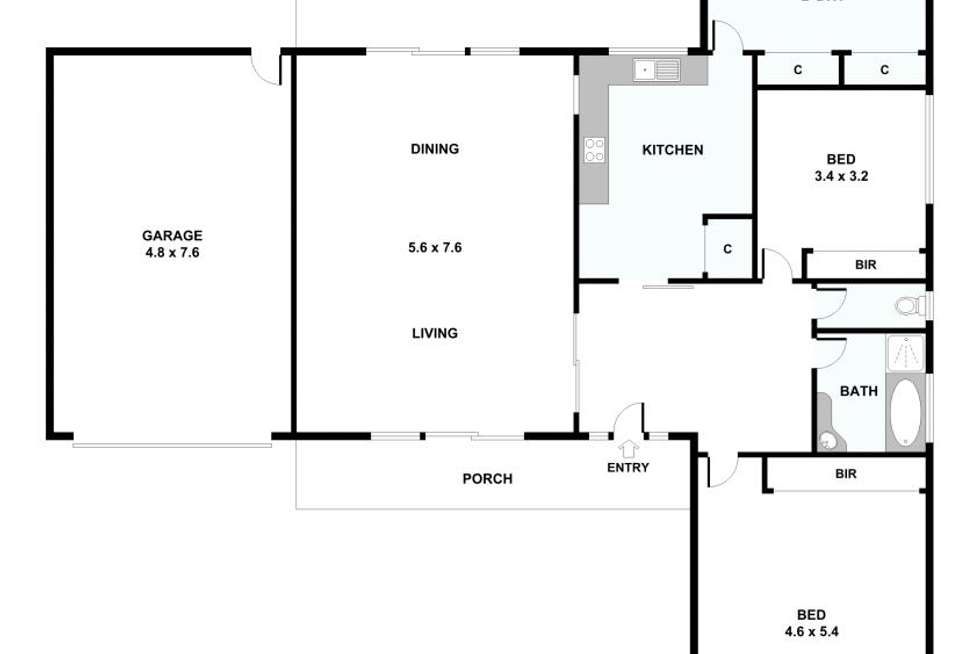 Floorplan of Homely house listing, 164 Black Forest Road, Wyndham Vale VIC 3024
