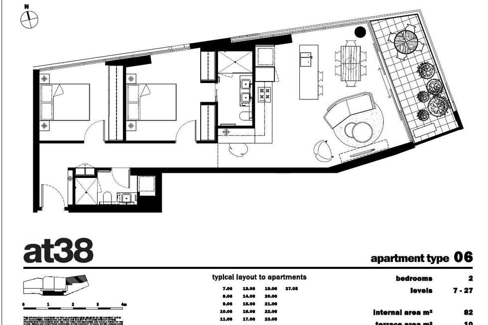 Floorplan of Homely apartment listing, 2106/38 Albert Road, South Melbourne VIC 3205