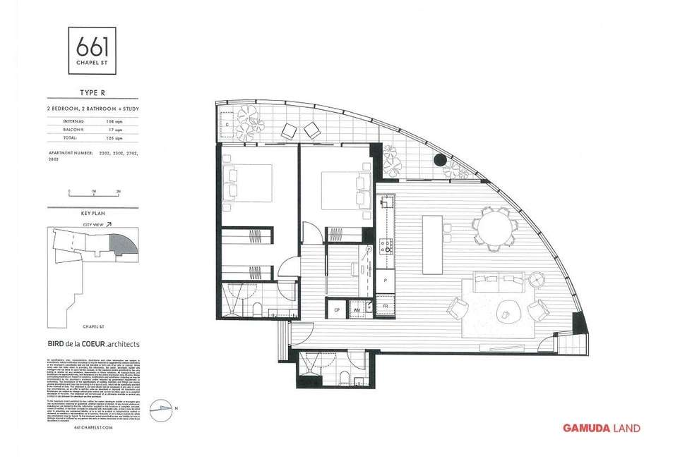 Floorplan of Homely apartment listing, 2802/661 Chapel Street, South Yarra VIC 3141