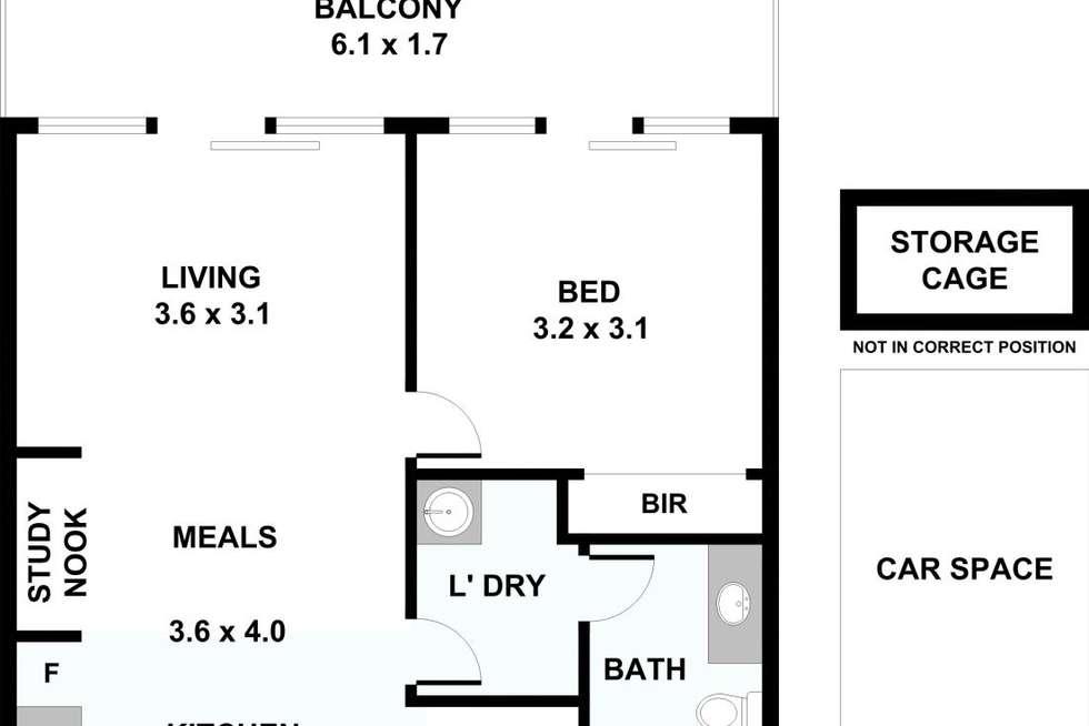 Floorplan of Homely unit listing, 109/519-521 High Street Road, Mount Waverley VIC 3149