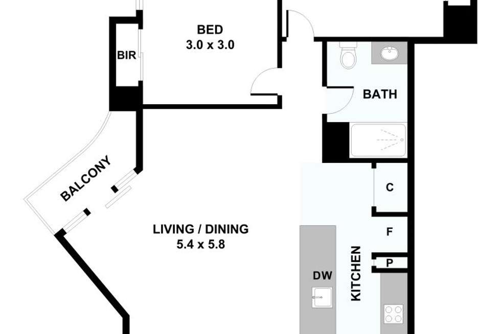 Floorplan of Homely apartment listing, 4001/189 Weston Street, Brunswick East VIC 3057