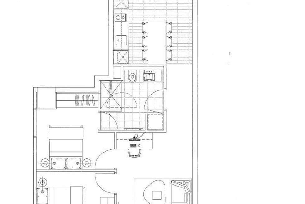 Floorplan of Homely apartment listing, 714/199 William Street, Melbourne VIC 3000