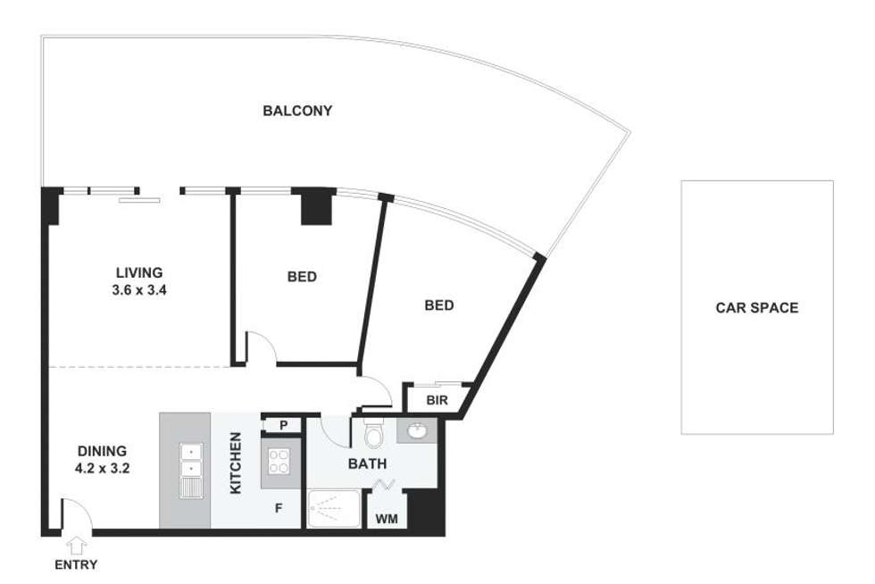 Floorplan of Homely apartment listing, 3203/109 Clarendon Street, Southbank VIC 3006