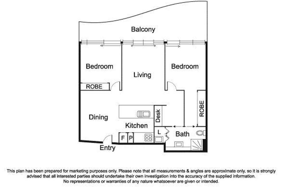 Floorplan of Homely apartment listing, 509/108 Bay Street, Port Melbourne VIC 3207