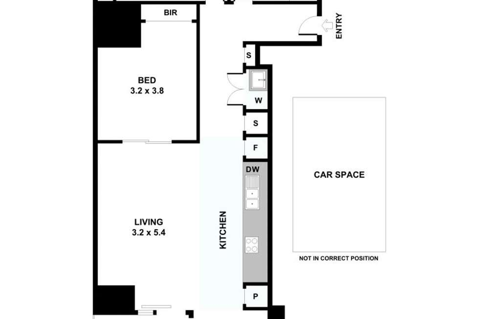 Floorplan of Homely apartment listing, 1402/35 Spring Street, Melbourne VIC 3000