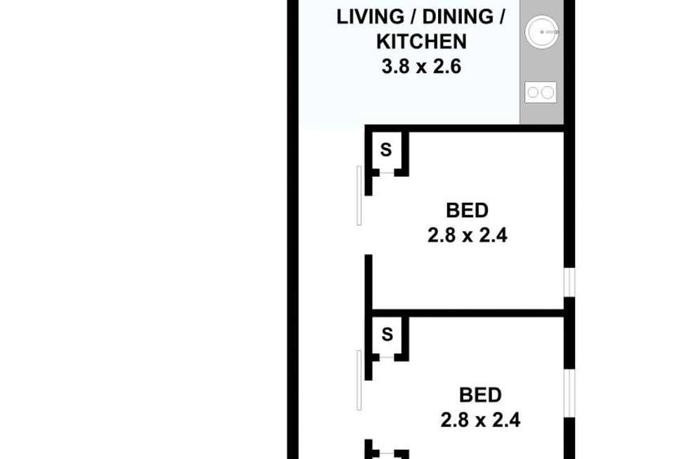 Floorplan of Homely apartment listing, 1048/139 Lonsdale Street, Melbourne VIC 3000