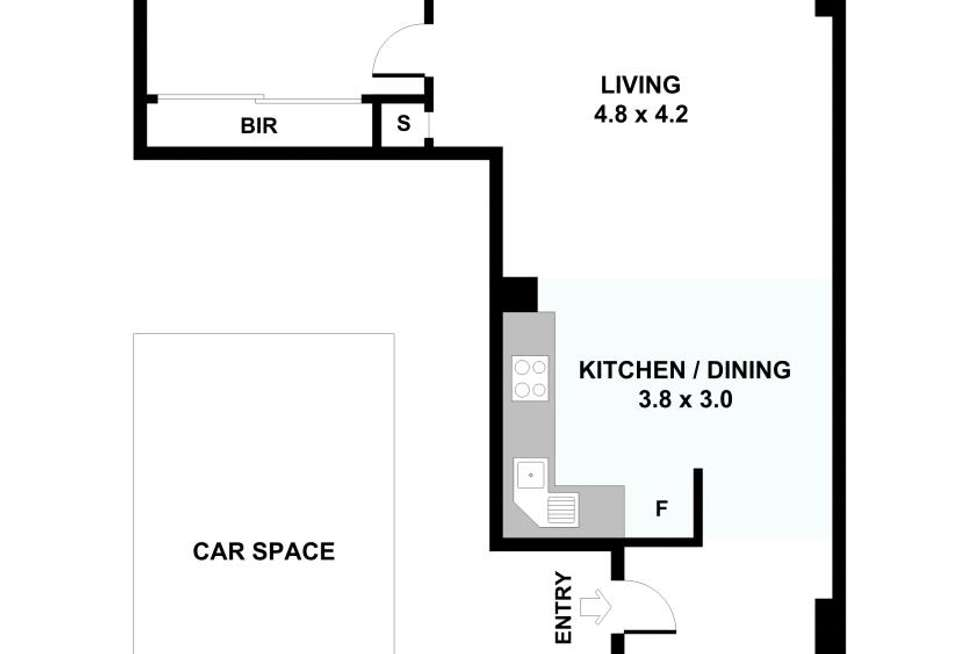 Floorplan of Homely unit listing, 75/183 City Road, Southbank VIC 3006