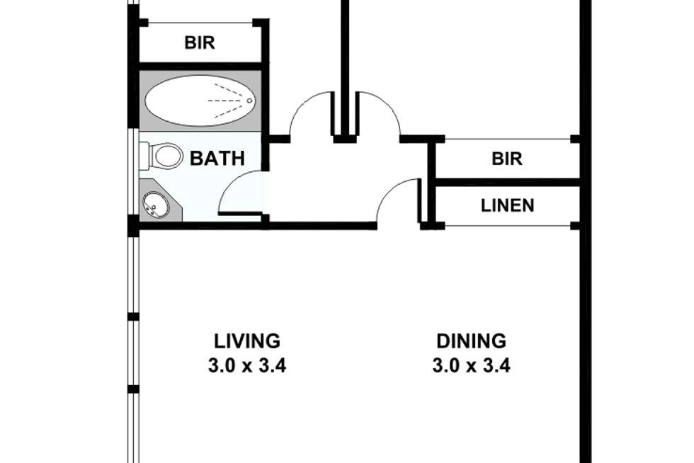 Floorplan of Homely apartment listing, 2/3 Barnsbury Road, South Yarra VIC 3141