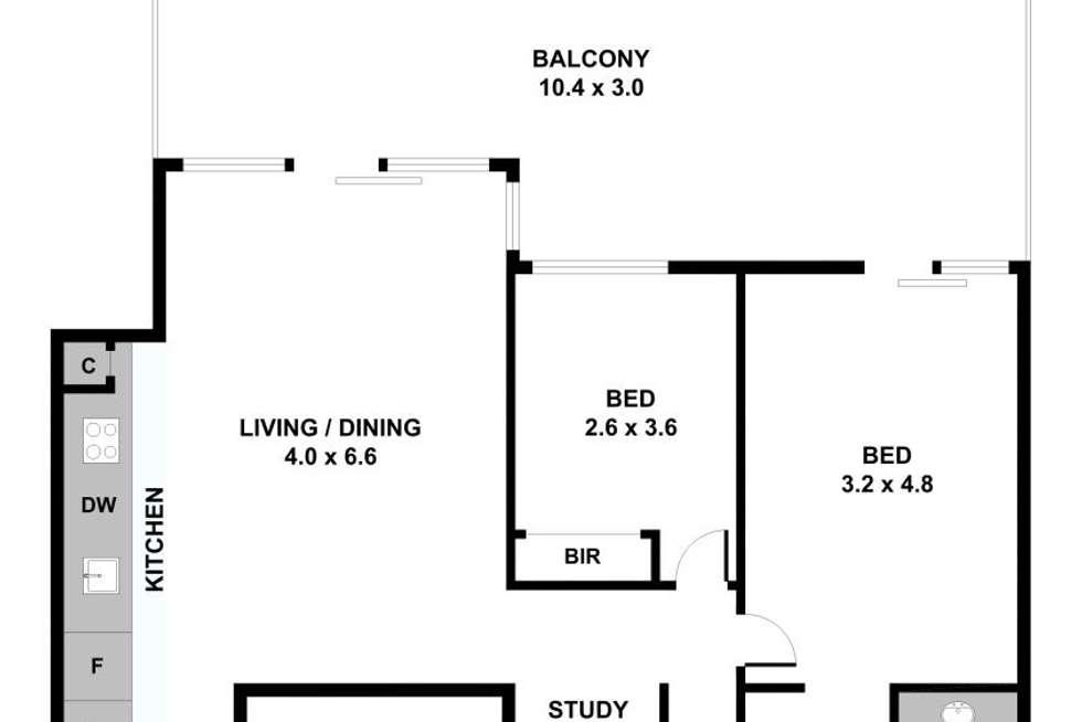Floorplan of Homely unit listing, 104/72 Wests Road, Maribyrnong VIC 3032