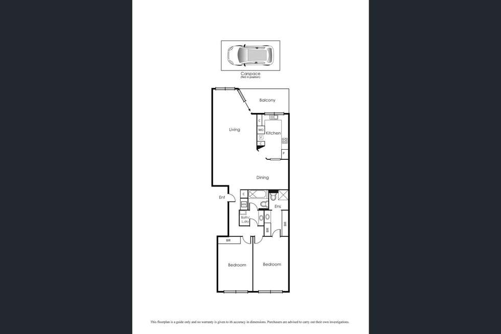 Floorplan of Homely apartment listing, 10/73 Queens Road, Melbourne VIC 3004