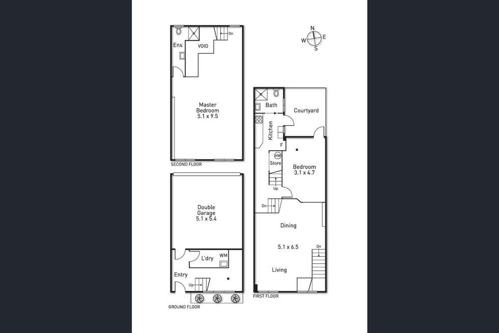 Floorplan of Homely townhouse listing, 8/31 York Street, Richmond VIC 3121