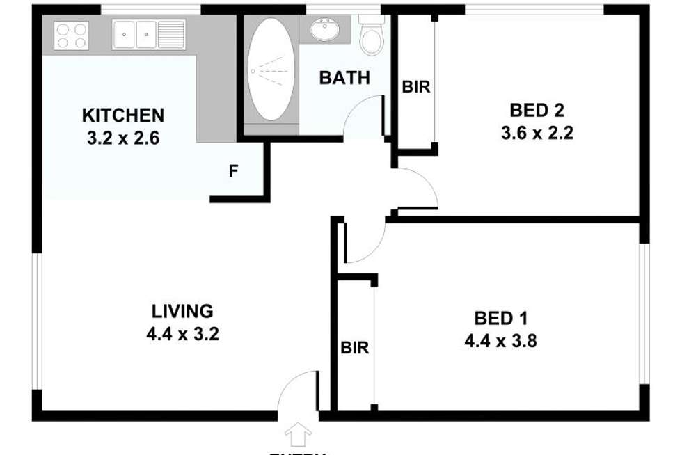 Floorplan of Homely apartment listing, 1/71 Lord St, Richmond VIC 3121