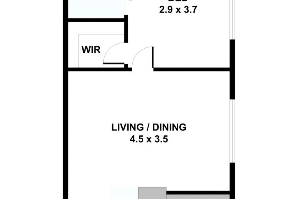 Floorplan of Homely apartment listing, 10/104 The Avenue, Parkville VIC 3052