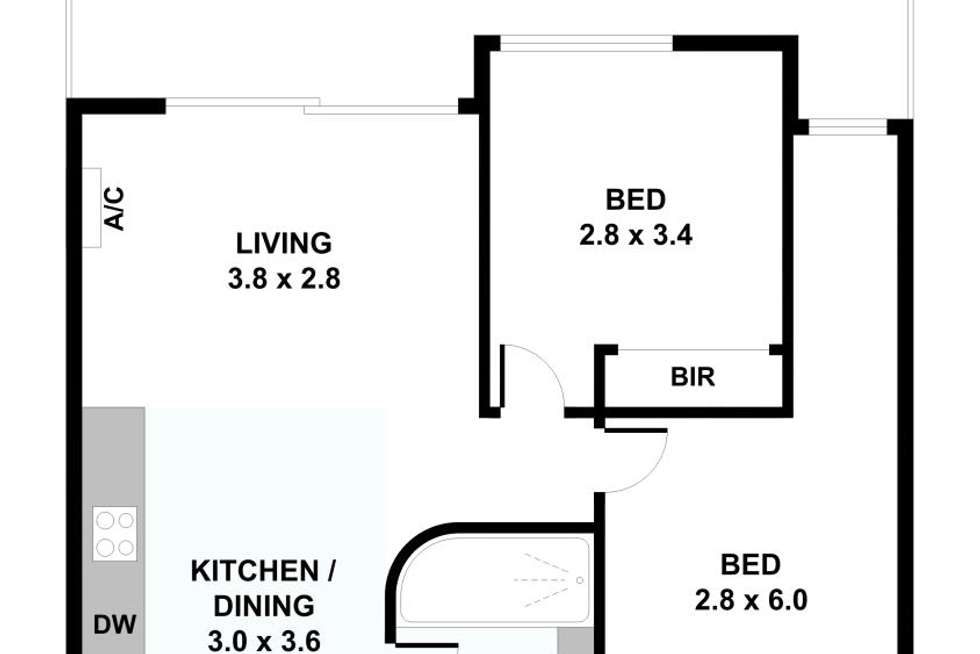 Floorplan of Homely unit listing, 116/70 Nott Street, Port Melbourne VIC 3207